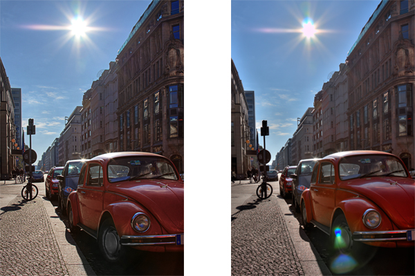 how to deal with lens flare