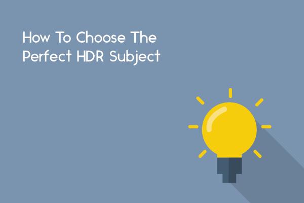 choose hdr subject