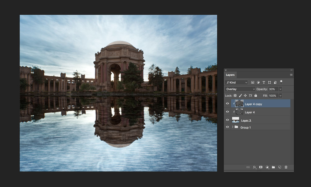 adding shadows to reflection in photoshop