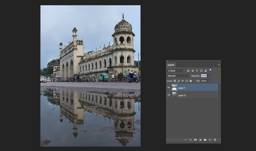 enhance existing reflection in photoshop