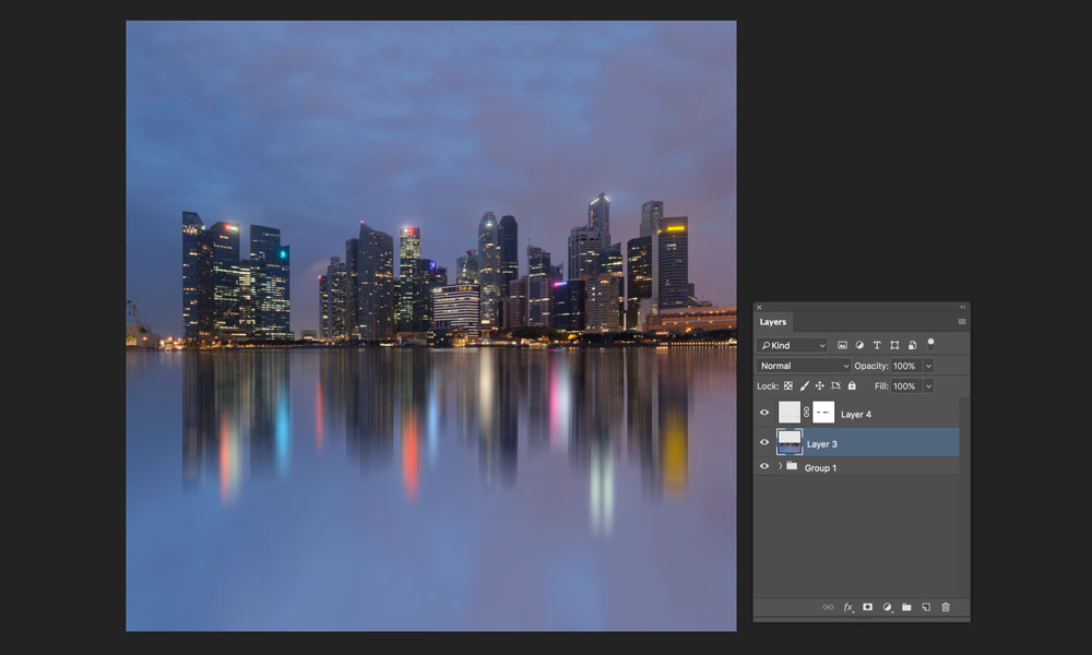 adding motion blur to reflection light trails in photoshop