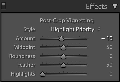 adobe lightroom vignette adjustment