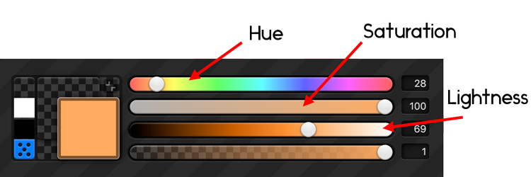 add image depth with saturation and lightness color picker