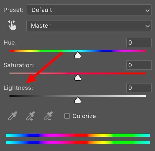 hue saturation adjustment layer to add image depth in photoshop