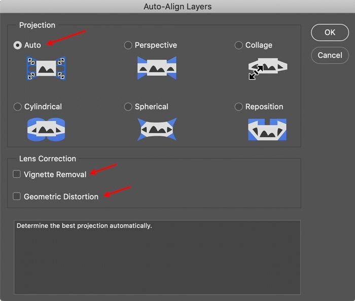 auto align layers for focus stacking