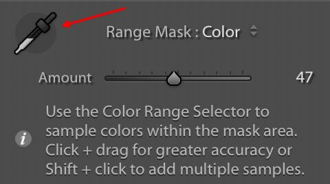 color range mask panel