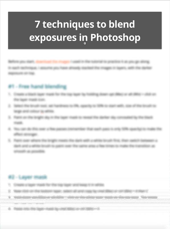 exposure blending cheat sheet