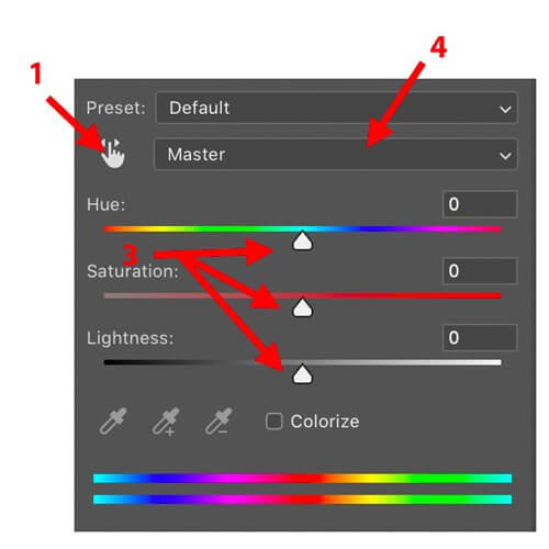 hue saturation adjustment color analysis for photographers