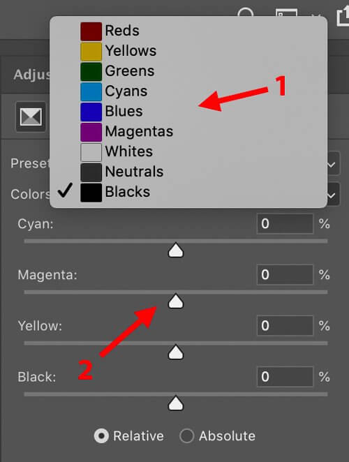 selective color color analysis for photographers
