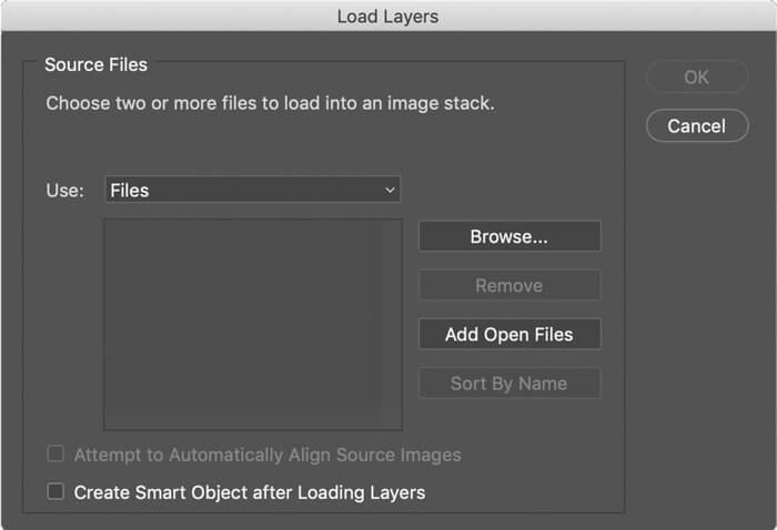 stack layers in photoshop for focus stacking